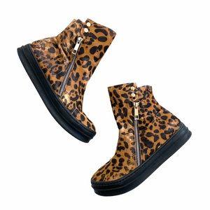 Jeffrey Campbell Sci Fi Fur Sneaker Leopard RARE